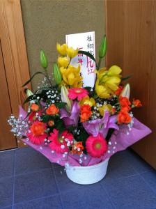 一周年お祝いお花(矢野先生)