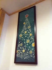 クリスマスツリー手ぬぐい